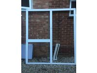 UPVC Door with frame and side panel
