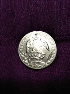 Beautiful 1894 8 Mexican Reales pure silver coin