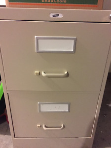 CLASSEUR BEIGE (2 TIROIRS) - BEIGE FILING CABINET (2 DRAWERS)