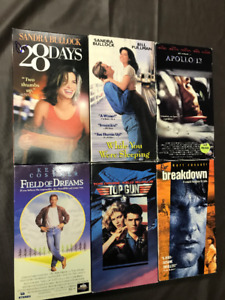 Classic VHS movies in soft cases! Travolta, Bullock  $2.00 each!
