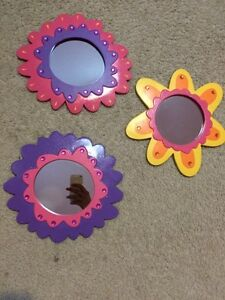 Flower Mirrors and Wall Decorations