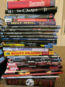 Large collection of graphic novels