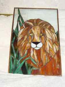 Stained Glass Lion Kingston Kingston Area image 1