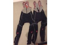 Bontrager windstopper Bib Tights x2 + 2x tights without pads (only 1 worn once, other 3 brand new)