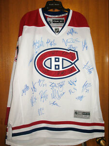 MONTREAL CANADIANS SIGNED TEAM NHL JERSEY SCOTT GOMEZ 2011 - 201