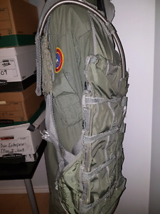 Top gun jump suit and back pack and mannequin