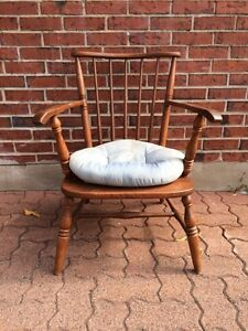 Antique wood lounge chai