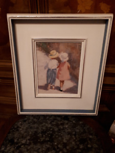 Charming painting of children by Ivan Anderson