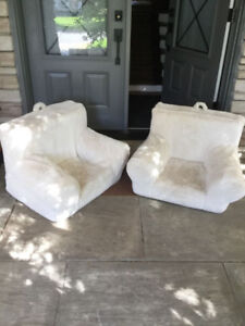 Two Pottery Barn Kids Sherpa anywhere chairs