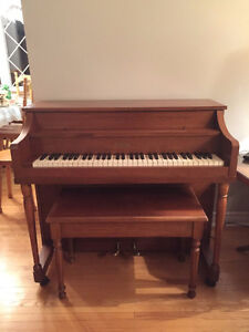 Apartment Sized Piano and Bench - For Sale