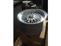 Bbs reps 4x100/4x114.3 alloys wheels X2 (corsa, polo etc)