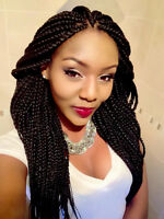 BRAIDS, EXTENSIONS, CORNROWS, WEAVE, INTERLOCKING.CROCHET BRAIDS