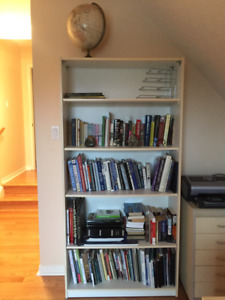 IKEA Billy White Bookcase -4 Shelves (Approx 5' tall x 5' wide)