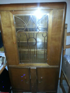 antique hutch in good condition