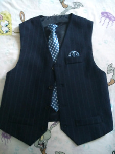 Vest and clip on tie