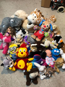 Toys. play doh stuff, stuffies, little people