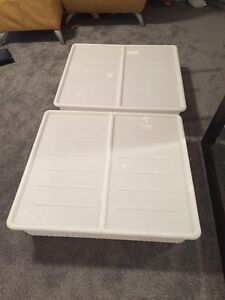 IKEA under bed plastic storage containers with lid