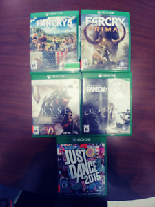 5 Xbox one games for trade or sale