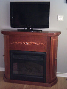 Electric Fireplace-Mantle-Bar-Tv Stand -with Remote Control