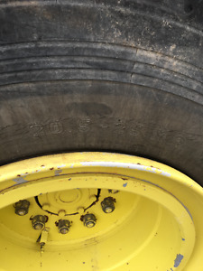 Two 20.5 X 25 Loader Tires