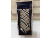Genuine BURBERRY London Men's classic check tie,100% Silk, costs £125,Bargain at £45