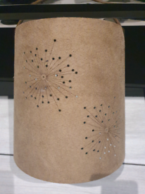 Light brown suede effect lamp shade