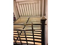 Magnificent chrome metal bed frame