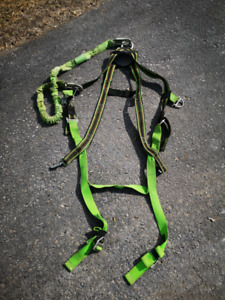 Miller harness with lanyards and shock absorbers