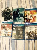 Selling 6 great ps4 games and 1 black ps4 controller