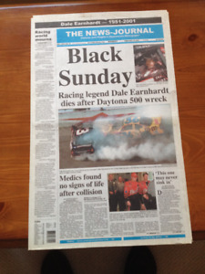 The News Journal- Black Sunday Newspaper Section