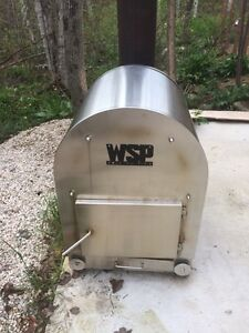 Wood stove pool heater