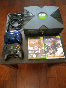 Original xbox with Retro Games