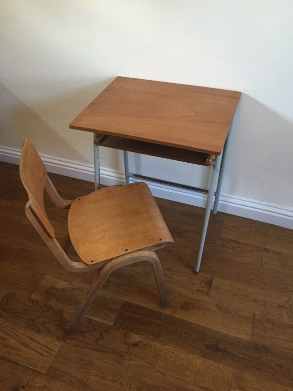 Children S Old Vintage Wood School Desk And Chair Sold Pending Collection