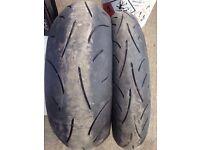 Sportsmax 2 motorbike tyres