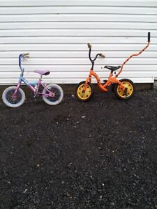 2 USED KIDS BIKES FOR SALE