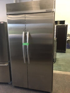 """KITCHENAID 42"""" STAINLESS SIDE BY SIDE COUNTER DEPTH FRIDGE"""