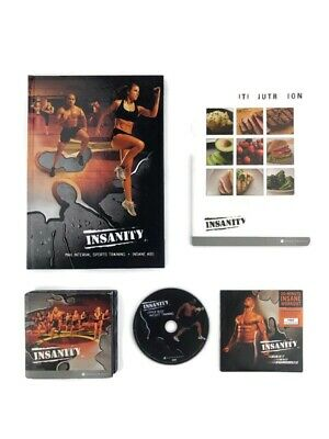 Insanity Dig Deeper 60 Day Total Body Workout 10 Set DVD + 4 Ex DVD's Nutrition
