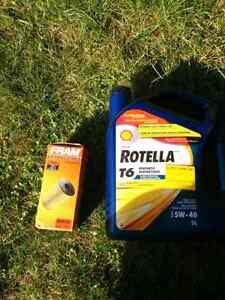 Huile rotella t6 5w40 + filtre a huile pour golf 4 diesel