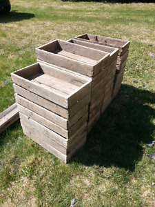 Old wooden tomato crates. Pintrest lovers!