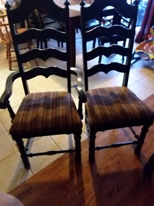 4 vintage chairs