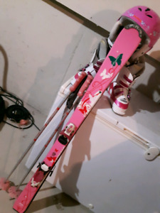 Girls full ski set
