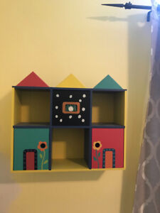 Wall mount shelf/cubby for child's room (2 pieces)