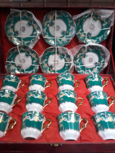 Set of 12 espresso cups and saucers