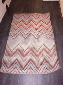 Multi coloured striped rug from Taskers.