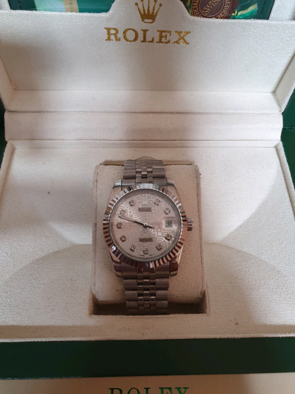 R o l e x Date-just silver colour watch | in Moston, Manchester | Gumtree