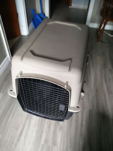 Dog Crate and Bowls