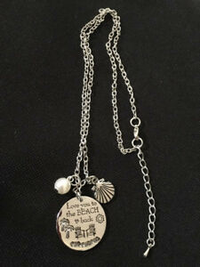 Necklace With Pendant & Charms - Love You To The Beach & Back