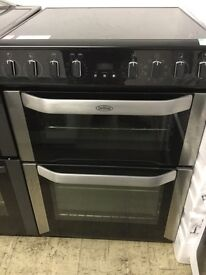 Belling Black single fan Oven with Induction hobs 60cm