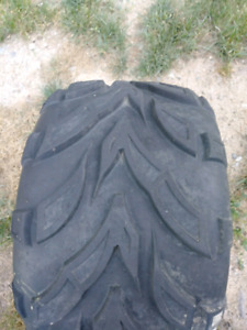 2 rear tires off of chinese atv