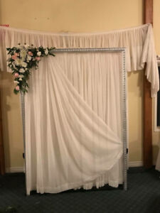 Wedding Frame (arch)  with sheers